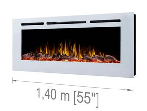 Noble Flame PARIS weiß 1400 [Elektrokamin Wandeinbau/wandhängend]