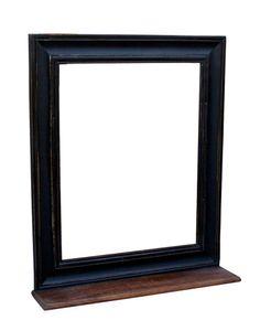 SIT Möbel Wand-Spiegel aus Mango-Holz | mit Ablage | schwarz | B 68 x T 10 x H 79 cm | 05806-11 | Serie CORSICA