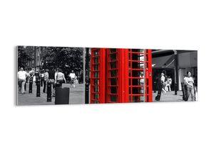 "Glasbild - 150x50 cm - "",""- Wandbilder  - London Telefon - Arttor - GCA150x50-0364"