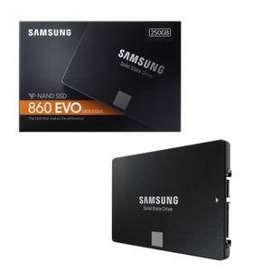 Samsung 860 EVO 250 GB, SSD SATA 6 GB/s, 2.5 Zoll (MZ-76E250B/EU)