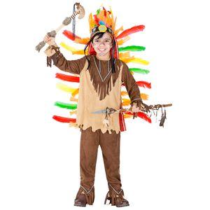 dressforfun Jungenkostüm Indianer kleiner Sioux - 116 (5-7 Jahre)
