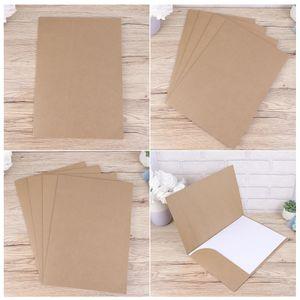 20 Stück A4 Kraftpapier Präsentationsordner Projektdatei Dokumentordner Bürozubehör (Kraftpapier)
