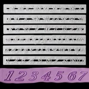 6 tlg Große Buchstaben Zahlen,Alphabet Ausstecher Tortendeko Marzipan Fondant DE