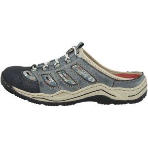 Rieker Damen Pantoletten Blau, Schuhgröße:EUR 39