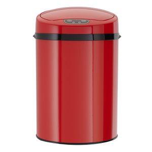 Echtwerk Abfalleimer mit Sensor 9L für Büro oder Bad, Farbe:Rot