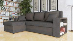 Mirjan24 Ecksofa Fano Design Eckcouch Couch mit Zwei Bettkasten und Schlaffunktion L-Form Sofa Seite Universal vom Hersteller (Sun 96 + Sun 95)