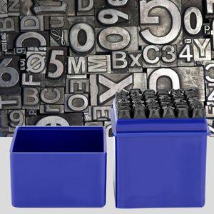 Schlagzahlen SET 6mm Gravur Schlagstempel 36 tlg. Schlagbuchstaben Buchstaben Prägestempel