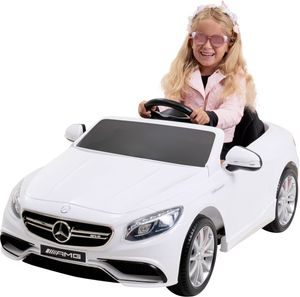Kinder-Elektroauto Mercedes AMG S63 Lizenziert (Weiß)