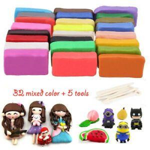 32 Farben Fimo Soft Polymer Ton Ofen Clay Modelliermasse Knete Modellierung