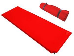 Kronenburg Isomatte selbstaufblasend 190 x 60 x 2,5 cm Luftmatratze Luftbett in Rot