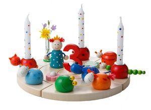 Rundum Geburtstagsring großer Kranz weiß einzeln