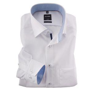 XXL Olymp modisches Businesshemd bügelfrei weiß, Kragenweite:44