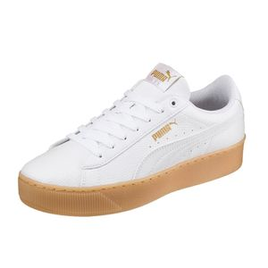 PUMA Schuhe coole Damen Plateau Sneaker Vikky Weiß, Größe:40
