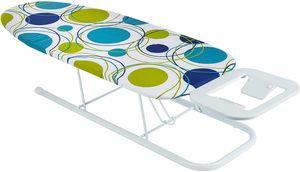 ONVAYA Tischbügelbrett | Mini Bügelbrett | Bügeltisch | Kleines, platzsparendes Bügelbrett | Punkte grün