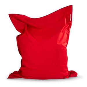 Green Bean © SQUARE XXL Riesensitzsack 140x180 cm - Indoor & Outdoor Sitzsack - Bean Bag Chair für Kinder & Erwachsene - Rot