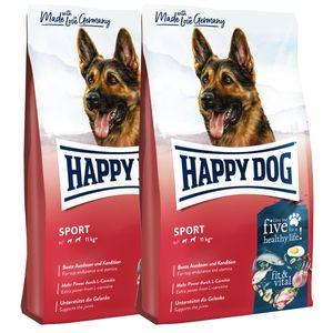 2 x 14 kg Happy Dog Supreme Fit & Vital Sport
