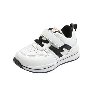 Kleinkind Kleinkind Kinder Baby Mädchen Jungen Leder Atmungsaktive Soft Sneakers Schuhe Größe:23,Farbe:Schwarz