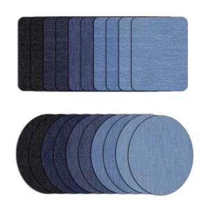 20er-set Denim Bügelflicken Jeansflicken Flicken zum Aufbügeln, 4 Größe Aufbügelflicken Aufbügler Bügelbild Applikation Reparatursatz