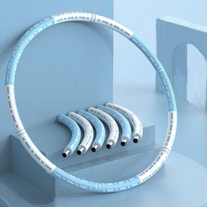 Hula Hoop, Fitness  Hula Hoop, 6-stufiges einstellbares Gewicht,  Fitness Bauchformung, blau weiß