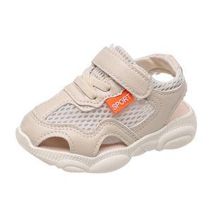 Kleinkind Kleinkind Kinder Baby Mädchen Jungen Unisex Atmungsaktive Sport Laufschuhe Sandalen Größe:22.5,Farbe:Beige