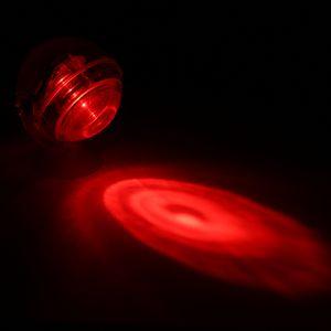Aquarium Wasserdicht LED Spotlight Tauchlicht konvexen Objektiv Design mit Saugnapf Aquarium dekorative Licht rot[rot]