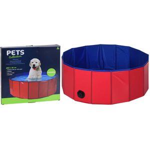 Pets Collection Hundepool Swimmingpool Ø 80 x 30 cm Rot/Blau