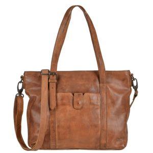 Bear Design Damen Tasche Ledertasche Shopper Schultertasche Handtasche Leder cognac 34x27cm Cow Lavato CL36739