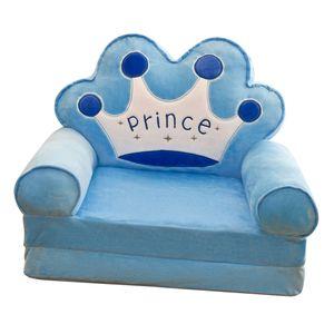 Cartoon Kinder Klappsofa Stühle Sitzbezug Kindersesselbezug Blue Crown Farbe Blaue Krone
