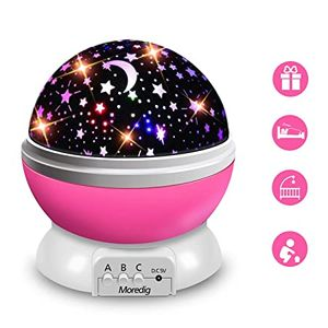 LED Rotierenden Stern Projektor ,Beleuchtung Mond Starry Sky Kinder Baby Nacht Schlaf Licht Batterie Notfall Projektion Lampe