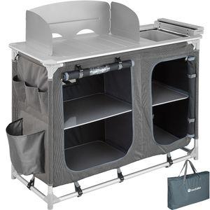 tectake Campingküche 116x52x107cm - grau