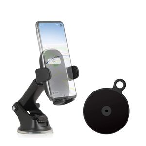 Wicked Chili Auto Handyhalterung für Frontscheibe mit 1 Armaturenbrett-Befestigungsplatten kompatibel mit Samsung Galaxy S20 Ultra S10 Lite S9 Plus Note10+ A90 A71 A60 A50 A51 A41 A10 M40 M30s