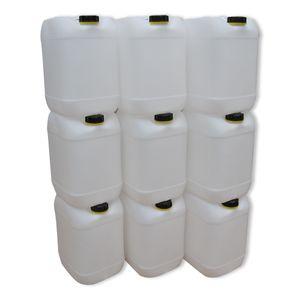 9 Stück 20 Liter Kanister Camping Wasserkanister Farbe natur (9x20knn)