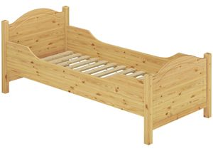 Seniorenbett extra hoch Rollrost 100x220 Überlänge Holzbett Einzelbett Gästebett 60.40-10-220