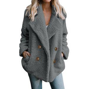 Damen Freizeitjacke Winter Warm Parka Outwear Damenmantel Mantel Außenmantel Größe:M,Farbe:Grau