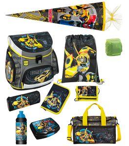 Transformers Schulranzen Set 10tlg Scooli Campus Sporttasche Schultüte 85cm grau