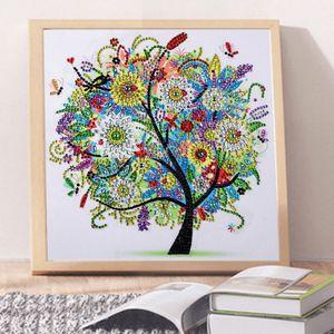 Speziell geformte Diamantmalerei - Vier Jahreszeiten Baum - DIY Home Decor Sommer 夏 30x30cm Diamant-Malerei