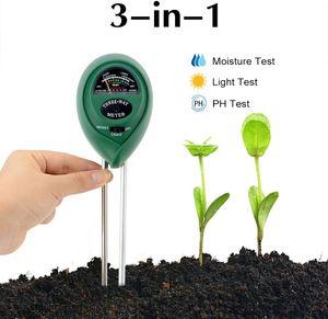 Bodentester 3 in 1 Bodenmessgerät PH Wert Digitales Boden Feuchtigkeit Meter für Pflanzenerde, Garten, Bauernhof, Rasen (kein Batterien erforderlich)