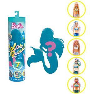 Barbie doll Colour Reveal - Wave 4 - 'Meerjungfrauen' Mädchen 5-teilig