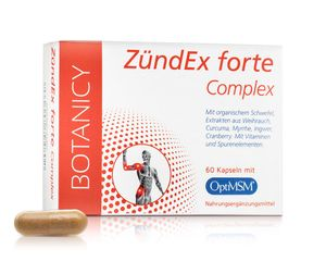 ZÜNDEX FORTE COMPLEX, Kombipräparat bei Entzündungen und Schmerzen, mit hochdosiertem OptiMSM