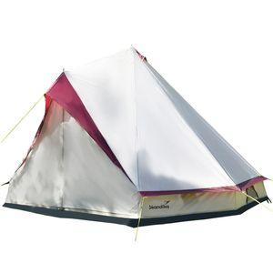 Skandika Partyzelt Tipii 8 Personen (beige) | Campingzelt mit Mittelstange | 250 cm Stehhöhe | 3000 mm Wassersäule