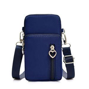 Umhängetasche Damen Klein, Handy Mini-Tasche Kleine Schultertasche Multifunktionale Handytasche mit Vielen Fächern Crossbody Tasche ,Blau