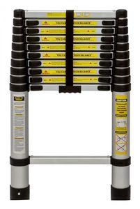 Alu-Teleskopleiter 10 Stufen bis 3,18 Meter ausziehbar max. 150 kg Traglast