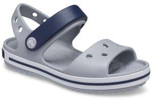 Crocs Crocband Sandal K Light Grey/Navy Größe EU 33-34 Normal