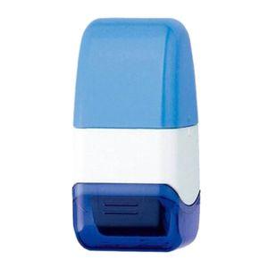 Identitätsschutz-Stempel Datenschutz Rollstempel Selbstfärbender Roller Schutz für Datenschutz Blau 58 x 25 x 27 mm Messy Code Seal