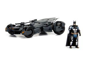 Dickie Toys Batman Justice League Batmobile 1:24, Die-cast Spielzeugauto mit zu öffnenden Türen inkl. Batman Figur, 253215000