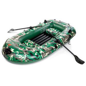 3 Personen Schlauchboot Ruderboot Schlauchboot aufblasbar inkl. 2 Paddel 260 kg