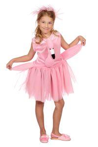 Kinder Kostüm Flamingo Kleid Haarreif Karneval Fasching