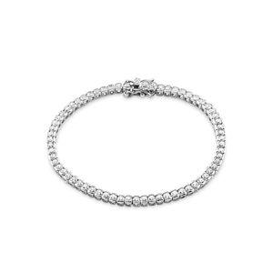 Amor Schmuck Tennisarmband für Damen, Sterling Silber 925, Zirkonia