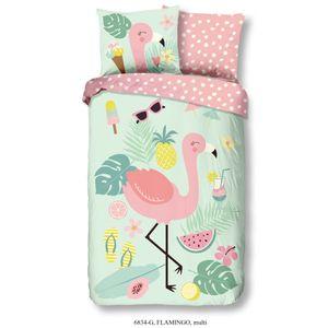 Good Morning Kinder-Bettwäsche-Set Flamingo 135×200 cm