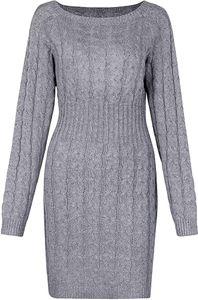 Damen Schulterfrei PulloverKleid Strickkleid Sweater Oberteile Sweatshirt Tops Bluse Lang XL